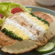 Dressed Cromer Crab with Lemon Mayonnaise — Zdjęcie stockowe
