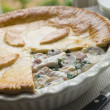 Chicken Gammon and Mushroom Pie — Stock Photo