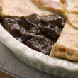 Steak and Ale Pie with Short Crust Pastry - Stock Photo
