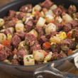 Stock Photo: Corned Beef Hash in Frying Pan