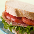 BLT on white bread — Stock Photo
