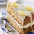 Slice of Lemon Drizzle Cake — Stock Photo #4766246