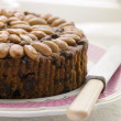 Stock Photo: Dundee Cake on Plate