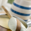 Making Fresh English Vanilla Custard - Stock Photo