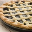 Hot Cherry Lattice Pie - Stock Photo