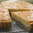 Stock Photo: Slice of Bakewell Tart