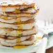Stock Photo: Pancakes with maple syrup