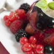 Champagne Berry Jelly with Clotted Cream — Stock Photo #4766353