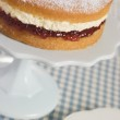 Victoria Sponge on a Cake Stand — Stock Photo