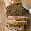 Slices from a Loaf of Bara Brith - Stock Photo