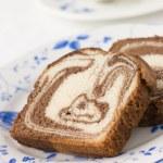 Chocolate Marble Maderia cake — Stock Photo