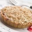 Stock Photo: Rhubarb Crumble Tart