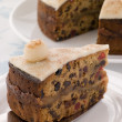 Slice of Simnel Cake - Stock Photo