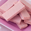 Pink Wafer Biscuits - Stock Photo