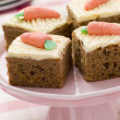 Stock Photo: Carrot Cake Squares