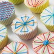 Kaliedoscope Cup Cakes - Stock Photo