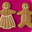 Gingerbread Mand Gingerbread Woman — Stock Photo #4767461