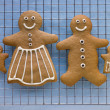 Gingerbread Family — Stock Photo