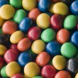 Candy coated Chocolate Drops - Stock Photo