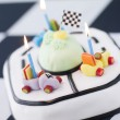 Racing Car Birthday Cake - Stock Photo
