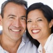 Couple in living room smiling — Stock Photo #4767775