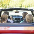 Family in convertible car — Stock Photo #4768186