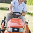 Moutdoors driving lawnmower — Stock Photo #4768832