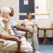 Five waiting in waiting room — Stock Photo #4769373