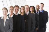 Line up of office staff — Stock Photo