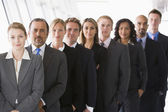 Line of office staff — Stock Photo