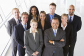 Overhead view of office staff — Stock Photo