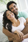A Middle Eastern couple cuddling — Stock Photo