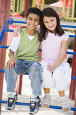 Two children in playground — Stock Photo