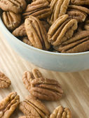 Bowl of Pecan Nuts — Stock Photo