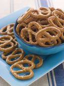 Bowl of Pretzels — Stock Photo