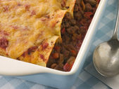 Dish of Beef Enchiladas — Stock Photo