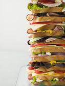 Dagwood Tower Sandwich — Stock Photo
