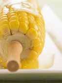 Corn on the Cob with Melted Butter — Stock Photo