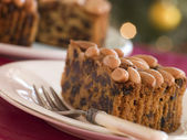 Wedge of Dundee Cake — Stock Photo