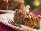 Wedge of Dundee Cake — Stock Photo