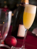 Glass of Bucks Fizz — Stock Photo