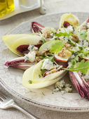 Salad of Chicory Walnuts and Apple with Roquefort Vinaigrette — Stock Photo