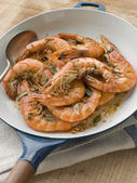 Mediterranean Prawns cooked in Pastis — Stock Photo