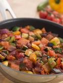 Ratatouille in a Saute Pan — Stock Photo
