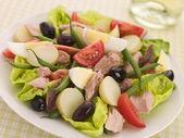 Salad of Tuna Nicoise — Stock Photo