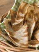 Basket of Melba Toast — Stock Photo