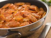 Vichy Carrots in a Saute Pan — Stock Photo