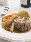 Plated Fillet of Beef a la Ficelle — Stock Photo
