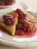 Pain Perdu with Berry Syrup — Stock Photo