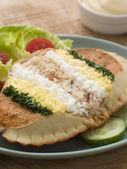 Dressed Cromer Crab with Lemon Mayonnaise — Stock Photo